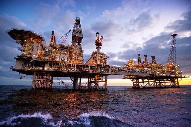 The Deepwater Gunashli platform, offshore Azerbaijan